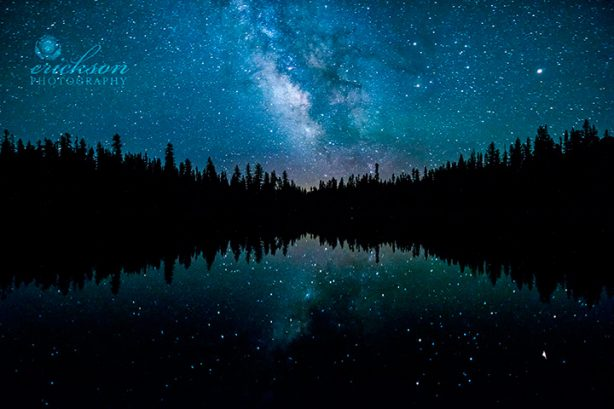 The Milky Way over Lassen National Park in Northern California.